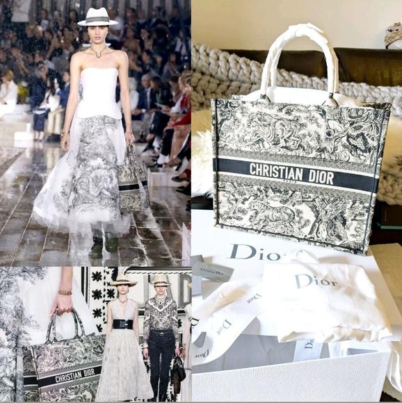 1bbf0b09a Dior Bags | 2019 Runway Book Tote Lady Bag Oblique Saddle | Poshmark